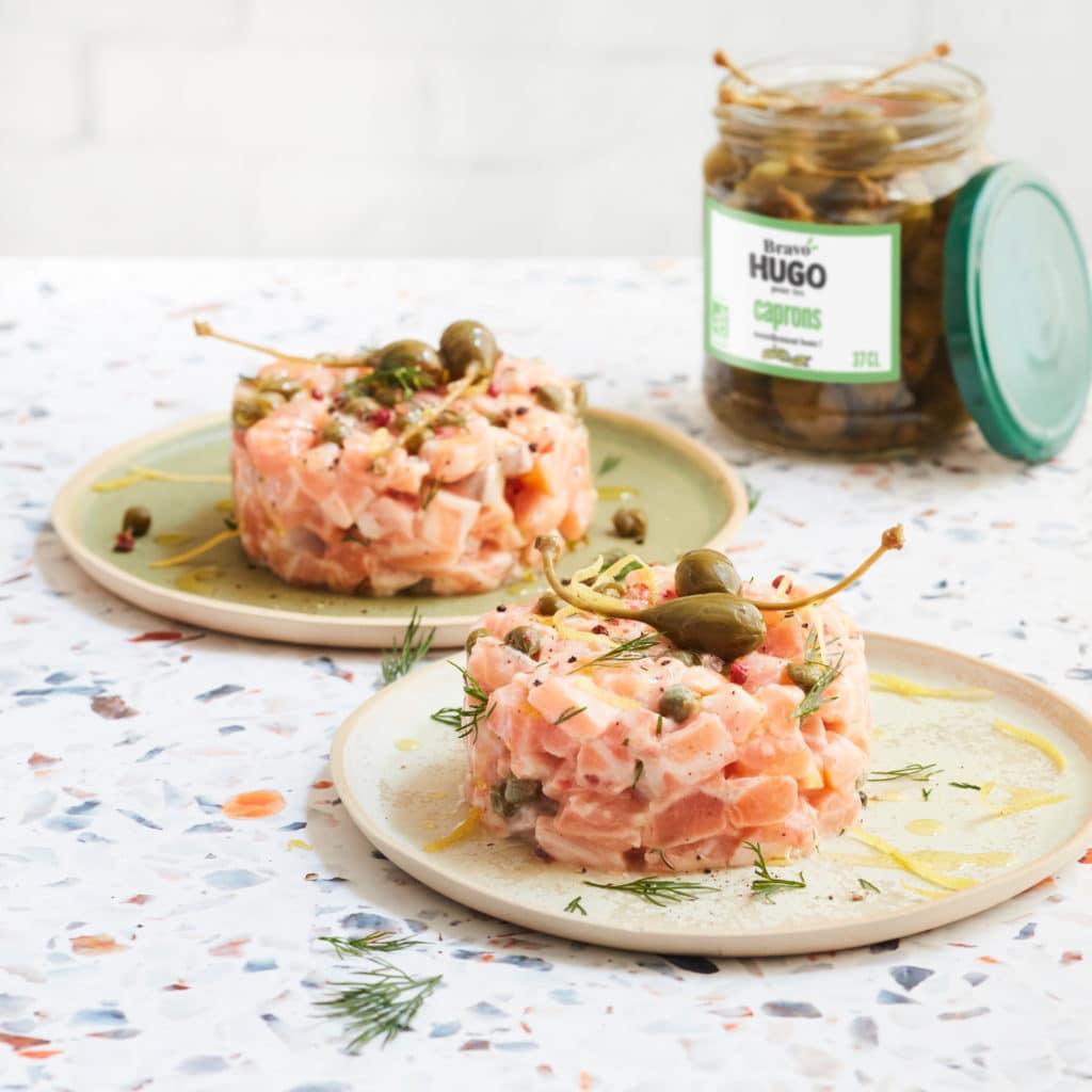 tartare saumon capron Bravo Hugo